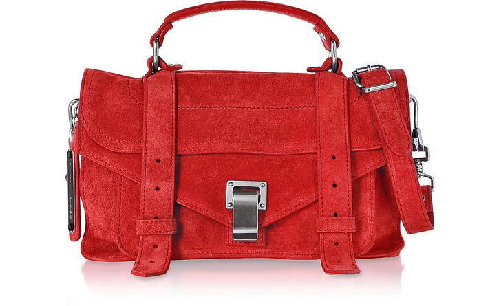 PS1 Tiny Borsa a Mano in Suede Cardinal Red Proenza Schouler vDmWaIvq6s