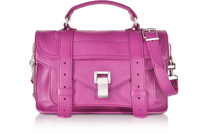 PS1 Tiny Berry Lux Leather Satchel Bag - Proenza Schouler