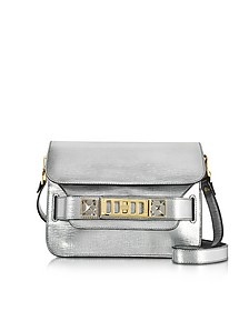 Metallic SIlver New Linosa Leather PS11 Mini Classic Shoulder Bag - Proenza Schouler