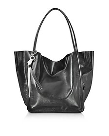 Black Leather Super Gloss Extra Large Tote - Proenza Schouler