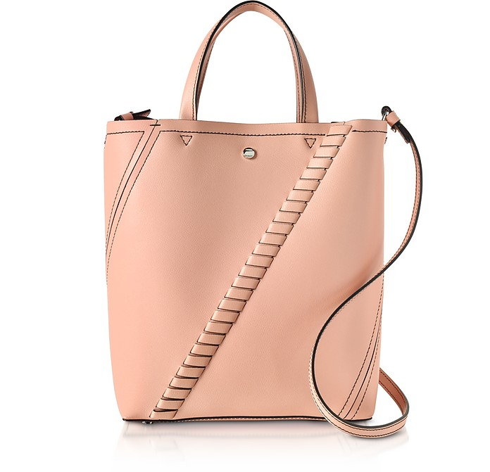 Deep Blush Mini Grain Leather Hex Tote Bag - Proenza Schouler