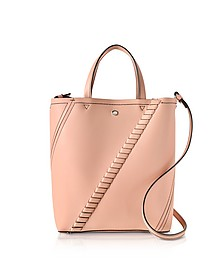 Deep Blush Mini Grain Leather Hex Tote Bag - Proenza Schouler