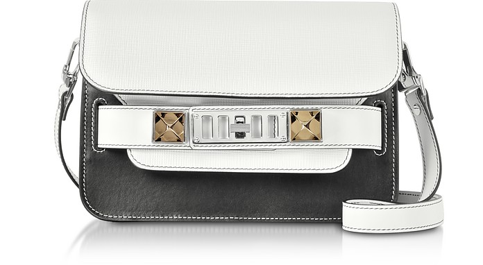 Ps11 Mini Classic-Mixed Leather Combo Shoulder Bag - Proenza Schouler