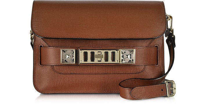 PS11 Mini Classic Nice Tan Saffiano Leather Shoulder Bag - Proenza Schouler