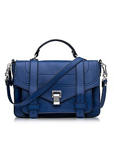 PS1+ Medium Lapis Grainy Leather Flap Handbag - Proenza Schouler