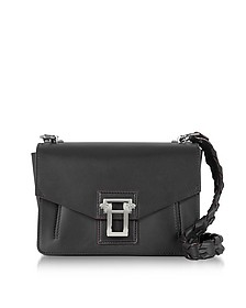 Hava Black Smooth Leather Shoulder Bag w/Whipstitch Strap - Proenza Schouler