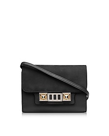 PS11 Black Leather and Nubuck Wallet w/Shoulder Strap - Proenza Schouler
