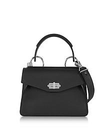 Black Lindos Leather Small Hava Top Handle - Proenza Schouler