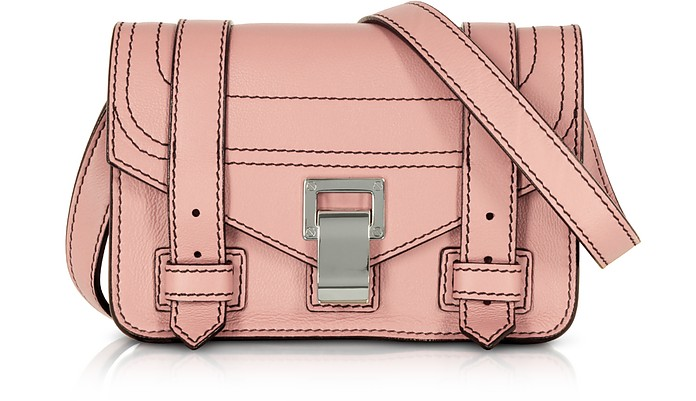 PS1+ Deep Blush Grainy Leather Mini Crossbody Bag - Proenza Schouler