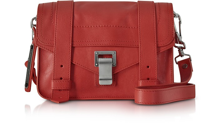 Dark Ruby PS1 Mini Lux Leather Crossbody - Proenza Schouler