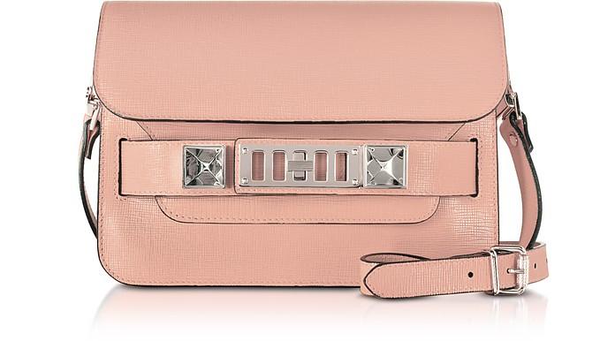 PS11 Mini Classic Borsa a Spalla in Pelle Rosa Blush - Proenza Schouler