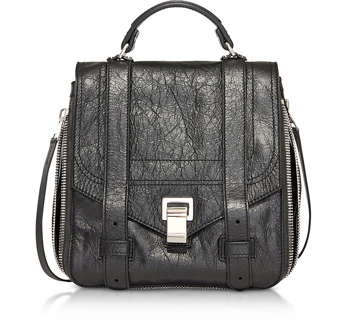 PS1+ Zip Black Leather Backpack - Proenza Schouler