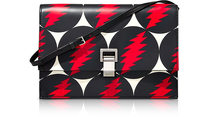 Grateful Dead Printed Leather Small Lunch Shoulder Bag - Proenza Schouler