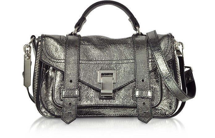 Ps1+ Metallic Leather Tiny Zip Satchel Bag - Proenza Schouler