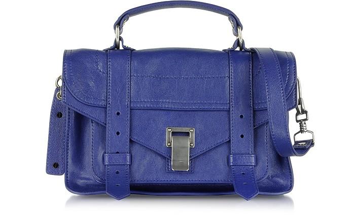 PS1 Tiny Violet Lux Leather Satchel Bag - Proenza Schouler