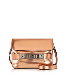 PS11 Mini Classic Copper Metallic Leather Shoulder Bag