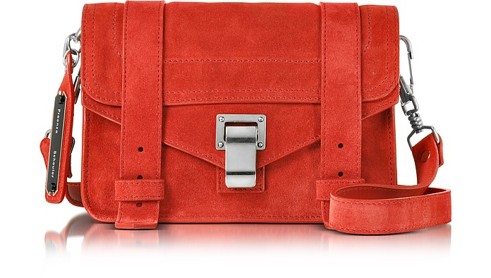 PS1 Mini True Red Suede Crossbody  - Proenza Schouler