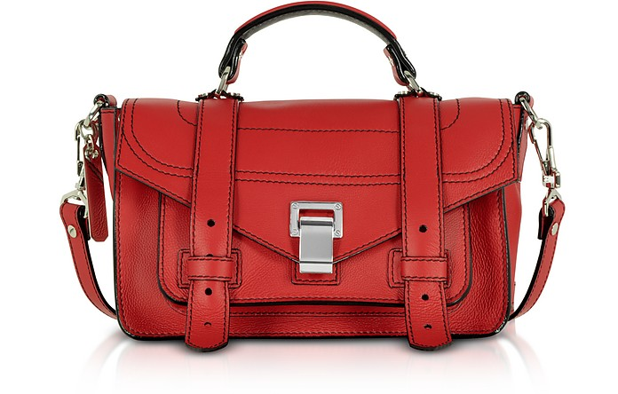 PS1+ Tiny Cardinal Leather Flap Handbag - Proenza Schouler