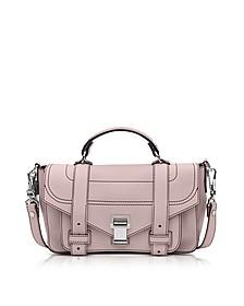 PS1+ Tiny Rose Quartz Leather Flap Handbag - Proenza Schouler