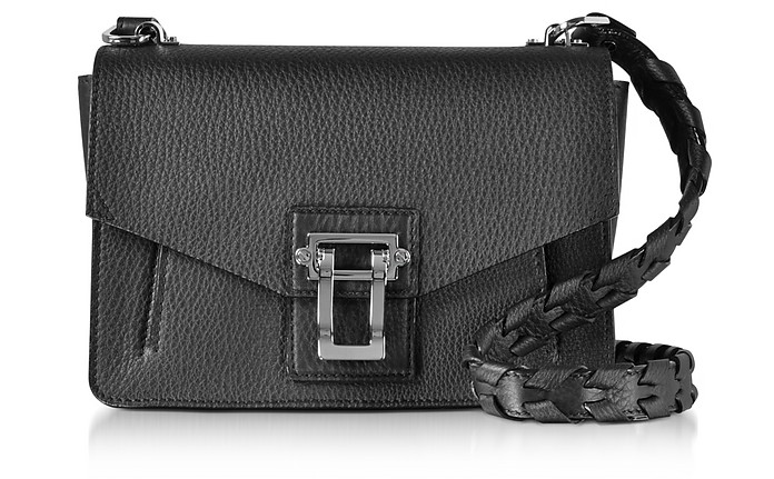 Hava Black Lindos Leather Shoulder Bag w/Whipstitch Strap - Proenza Schouler