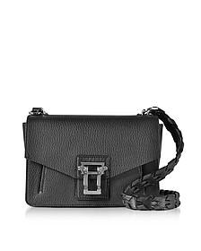 Hava Black Lindos Leather Shoulder Bag w/Whipstitch Strap - Proenza Schouler
