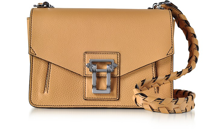 Hava Wheat Lindos Leather Shoulder Bag w/Whipstitch Strap - Proenza Schouler