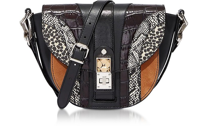 PS11 Small Borsa in Pelle Patchwork Exotic Mix - Proenza Schouler
