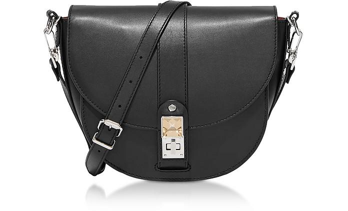 Black Smooth Leather PS11 Medium Saddle Bag - Proenza Schouler
