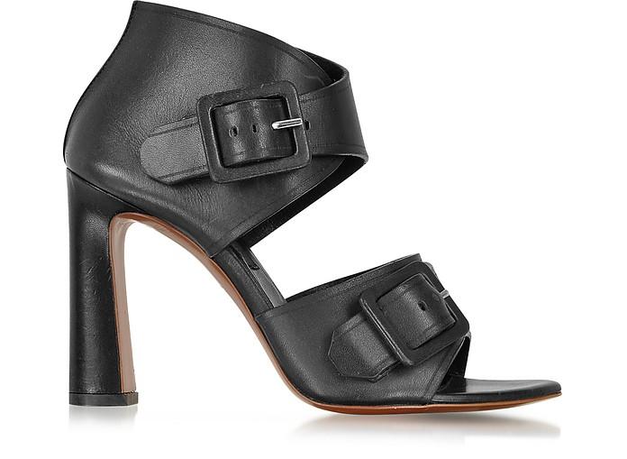 Black Leather Buckle Sandal - Proenza Schouler