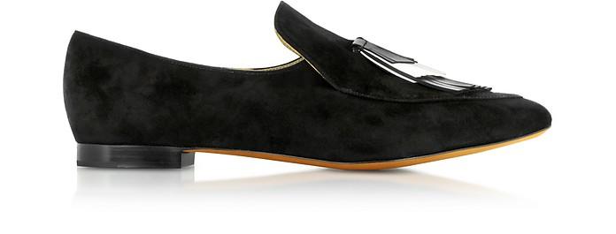Black Suede Loafer - Proenza Schouler
