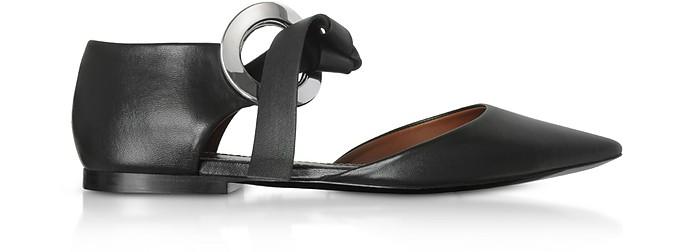 Nappa Leather Grommet D'orsay Flat Ballerinas - Proenza Schouler