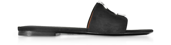 Black Suede Slide Sandals - Proenza Schouler