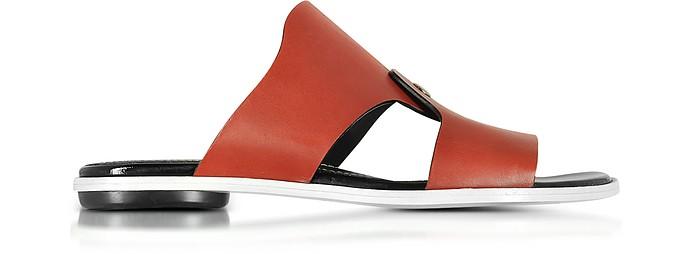 Sienna Leather Flat Slide - Proenza Schouler