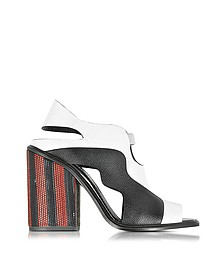 Color Block High Heel Sandale in schwarz& weiß - Proenza Schouler