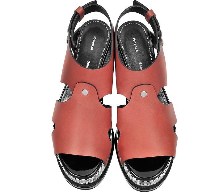 Sandalo in Pelle Terra di Siena con Tacco Scultura Optical Proenza Schouler 41 (41 EU) fa1BU7f