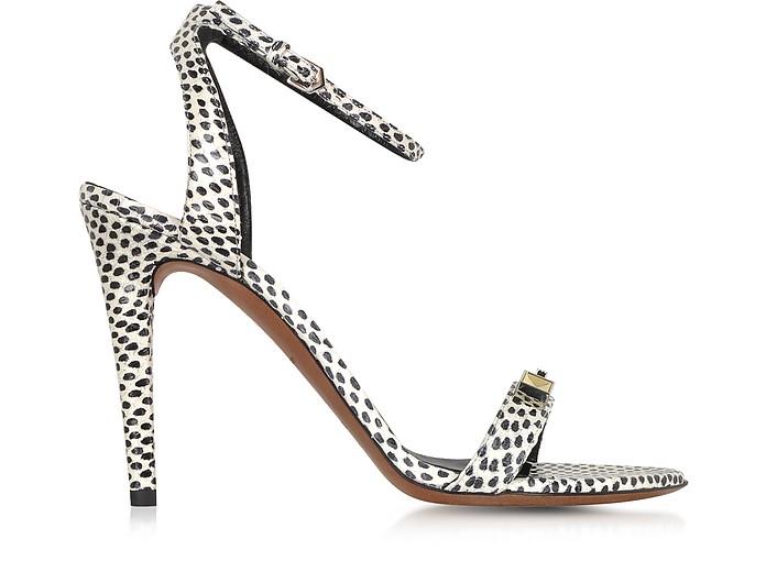 Polkadots Print Elaphe High Heel Sandal - Proenza Schouler