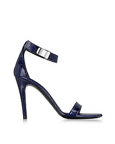 Night Blue Printed Leather Sandal - Proenza Schouler