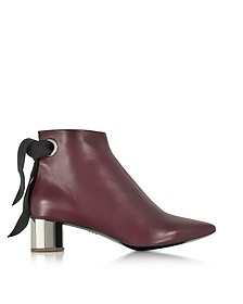 Burgundy Nappa Lather Ankle Boot - Proenza Schouler