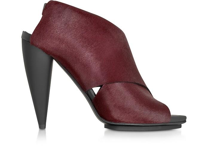 Bordeaux Kebir Haircalf Slingback Sandal - Proenza Schouler