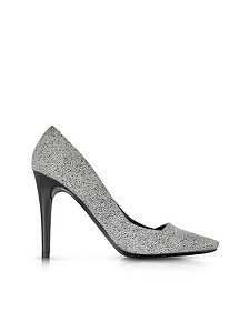 Dragonfly Black and White Print Suede Pump - Proenza Schouler