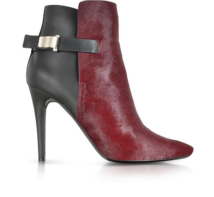 Bordeaux Kebir Haircalf and Rubber Ankle Boot - Proenza Schouler