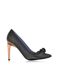 Black Leather Bow Pump - Proenza Schouler