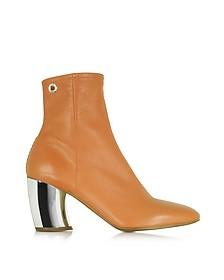 Tan  Leather w/Mirror High Heel Boot - Proenza Schouler