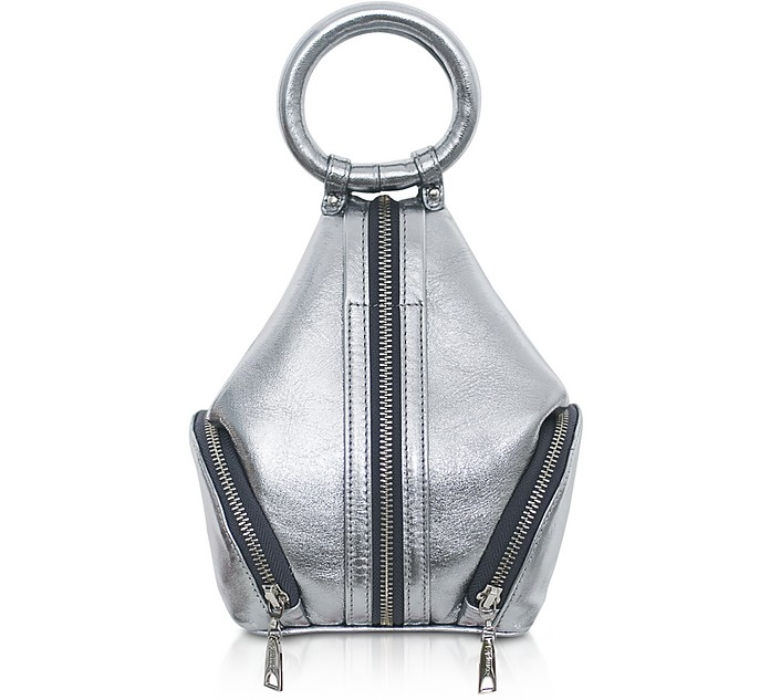 Silver Laminated Leather Eve Micro Bag - Complet
