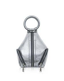 Silver Laminated Leather Eve Micro Bag - Complét