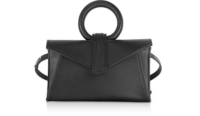 COMPLET BLACK LEATHER VALERY MICRO BELT BAG /SHOULDER BAG