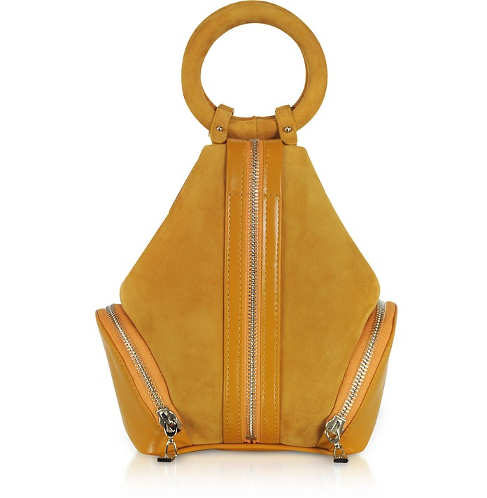 Mustard Yellow Suede Eve Micro Bag - Complet