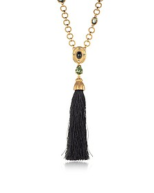 Crystal and Resin Tassel Pendant Necklace - Oscar de la Renta