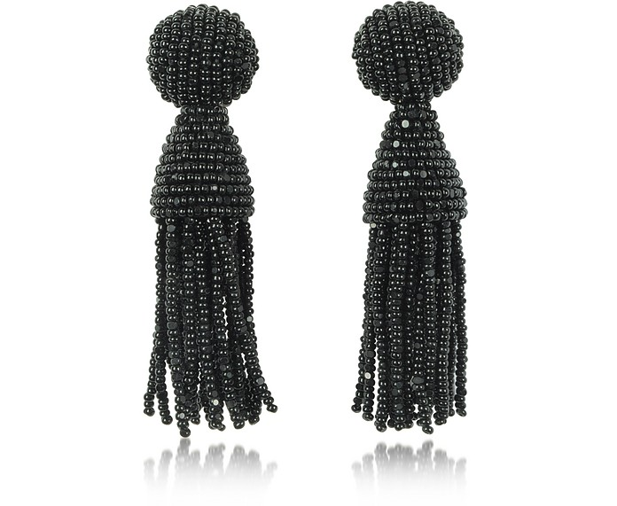 Classic Short Tassel Clip-On Earrings - Oscar de la Renta