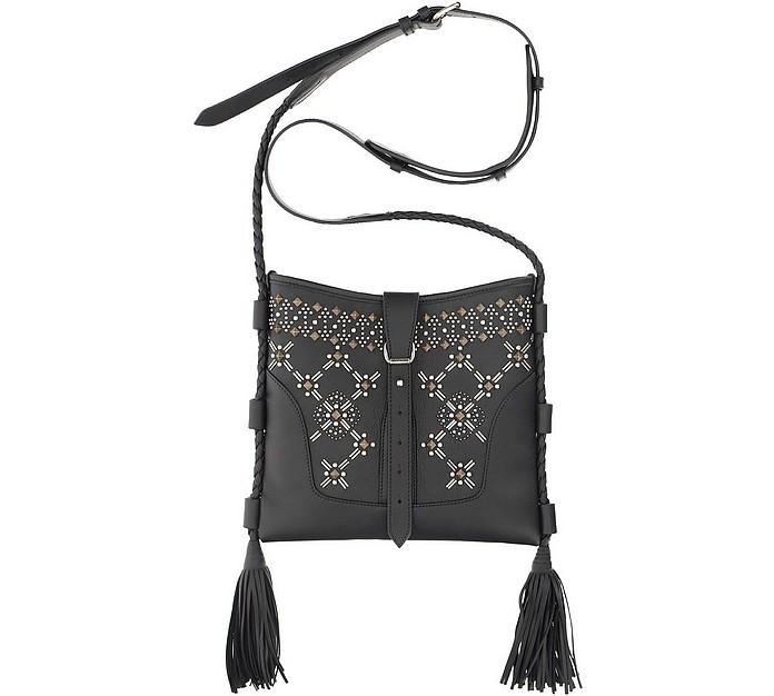 Black Smooth Leather Shoulder Bag - Etro